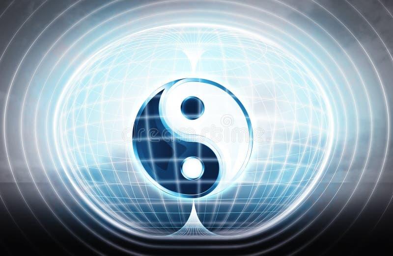 A harmonia colou na cápsula da energia como o projeto da ciência ilustração royalty free
