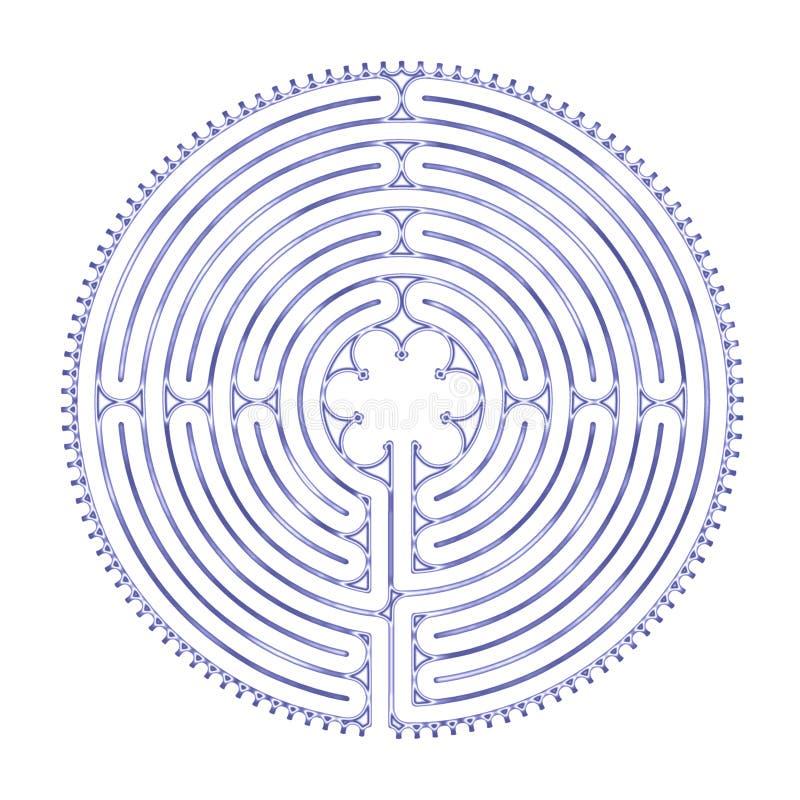 Harmonia do labirinto de Chartres imagem de stock royalty free