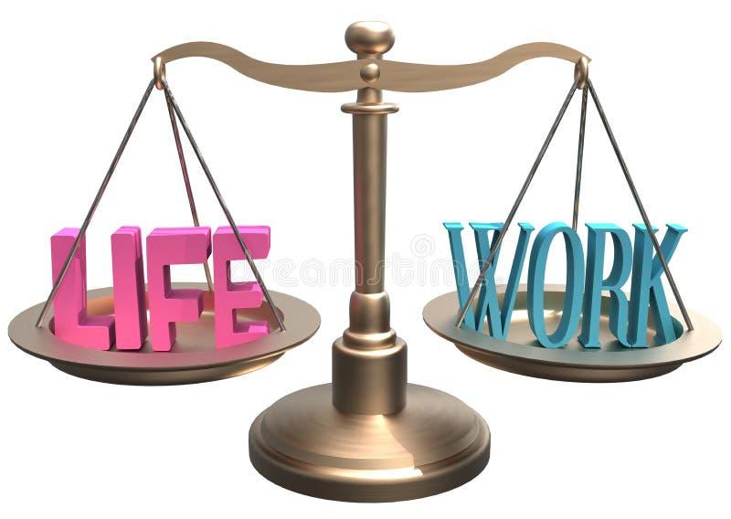 Harmonia dos trabalhos duma vida do balanço em escalas ilustração royalty free