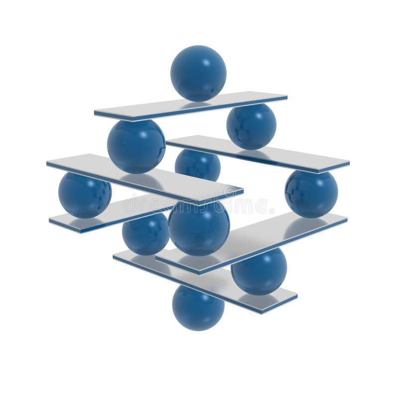 Harmonia e balanço ilustração stock