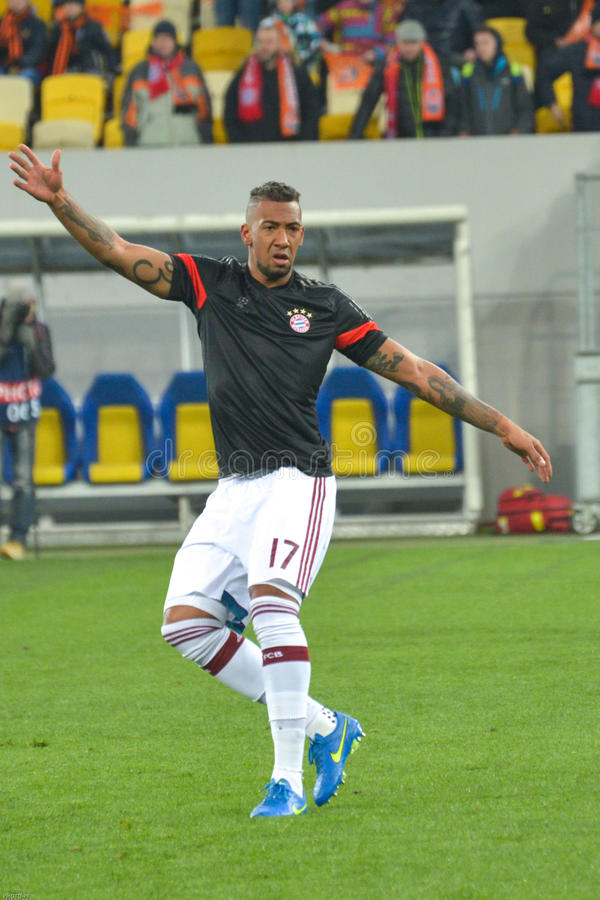 Harmonia entre FC Shakhtar contra FC Baviera Champions League fotografia de stock