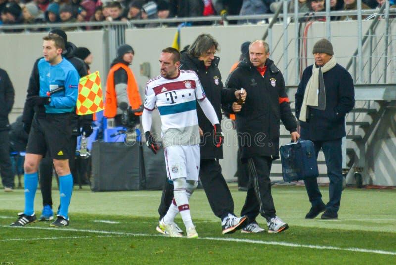 Harmonia entre FC Shakhtar contra FC Baviera Champions League fotografia de stock royalty free