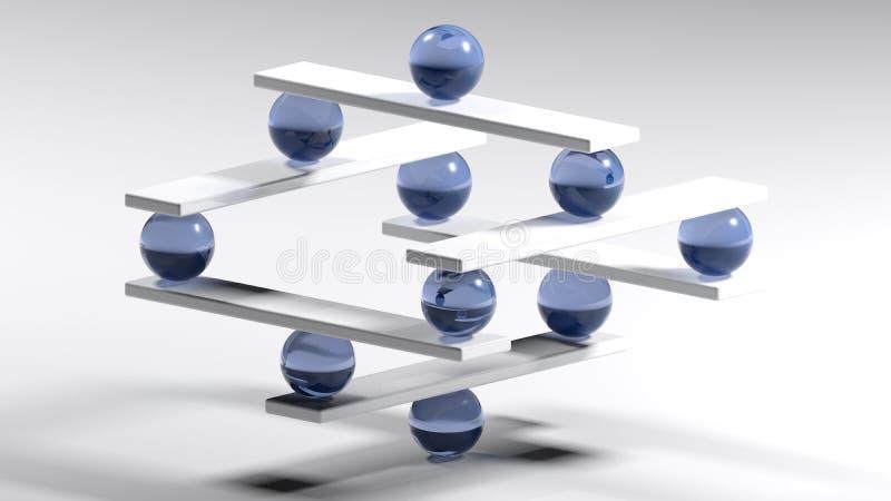 Harmonia i równowaga - 3D rendering ilustracja wektor