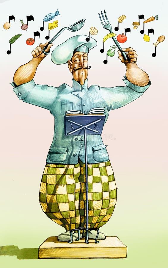 Harmonia w kuchni ilustracja wektor
