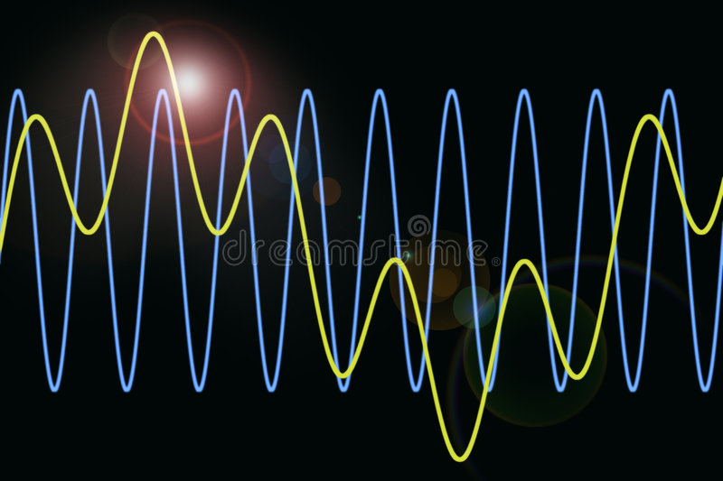 Harmonic Waves Diagram Background Stock Photos