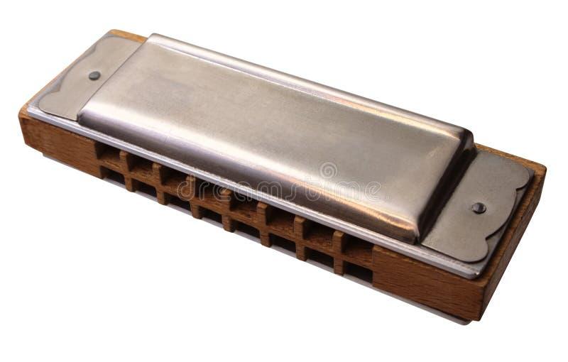 Harmonica. Isolated on white background stock image