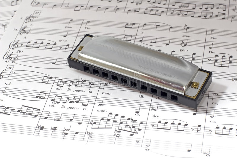 Harmonica royalty free stock photos