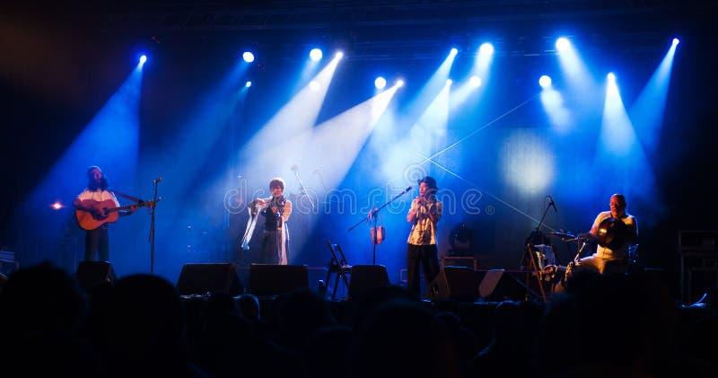 Harmonica Creams på etapp royaltyfri bild