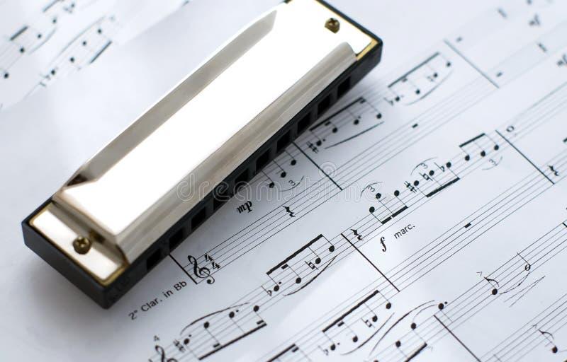 harmonicaanmärkningar royaltyfri bild