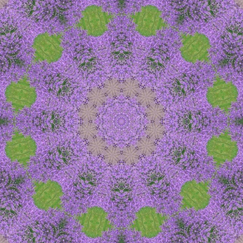 Harmonie violette de mandala d'ayurveda illustration stock