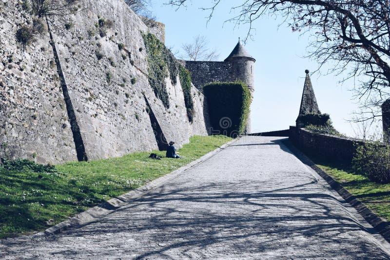 Harmonietijd in Mont Saint Michel, Frankrijk 2017 Maart royalty-vrije stock fotografie