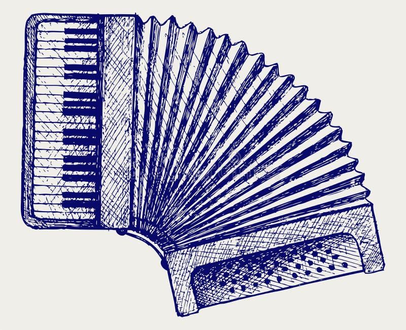 Download Harmonika. De Stijl Van De Krabbel Vector Illustratie - Illustratie bestaande uit grafisch, karikatuur: 29506545