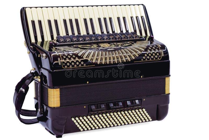 Harmonika in wit stock fotografie