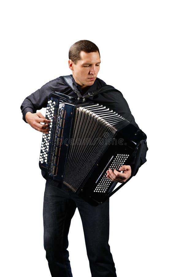 Harmonikaspeler royalty-vrije stock afbeeldingen