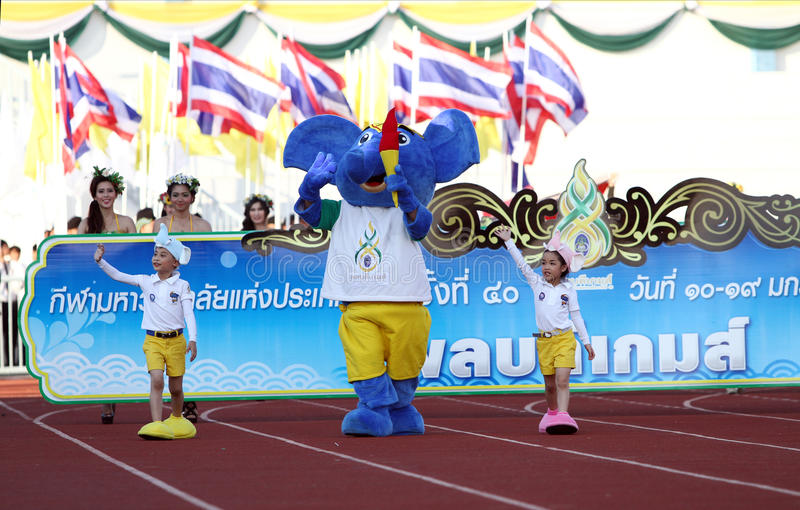 Download Harmonious(Blue Elephant) The Symbol Of Competition 40th Thailand University Games Editorial Photography - Image of competition, superstar: 28602527