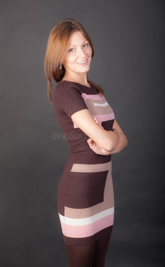 Harmonisch glimlachend meisje royalty-vrije stock afbeeldingen