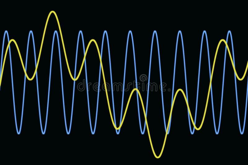 harmoniska waves för diagram royaltyfri illustrationer