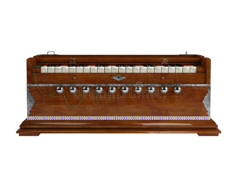 Harmonium. Isolated on white background royalty free illustration