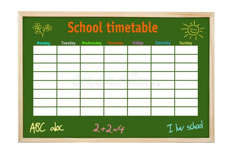 harmonogram szkoły fotografia royalty free