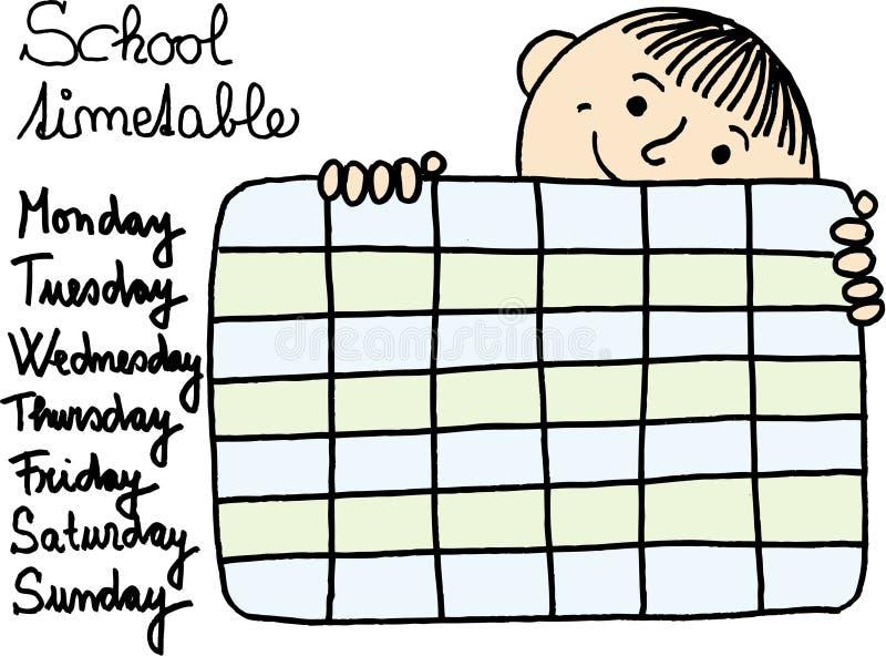 harmonogram szkoły ilustracja wektor