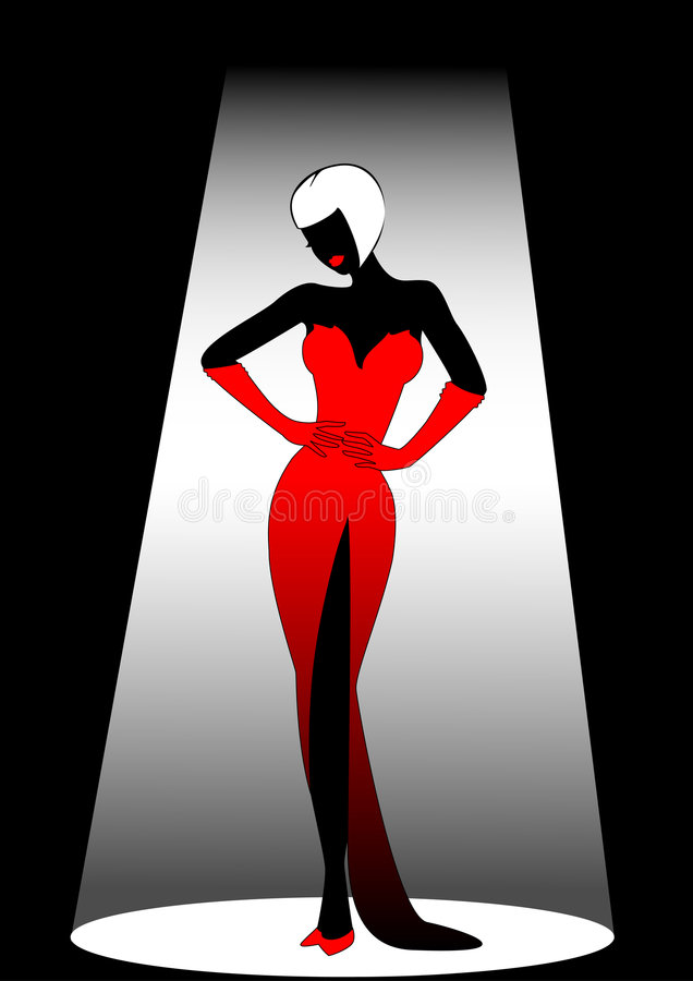 harmonous kvinna royaltyfri illustrationer