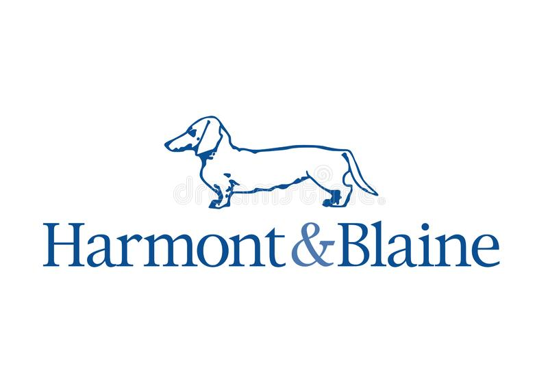 Harmont and Blaine logo royalty free stock images