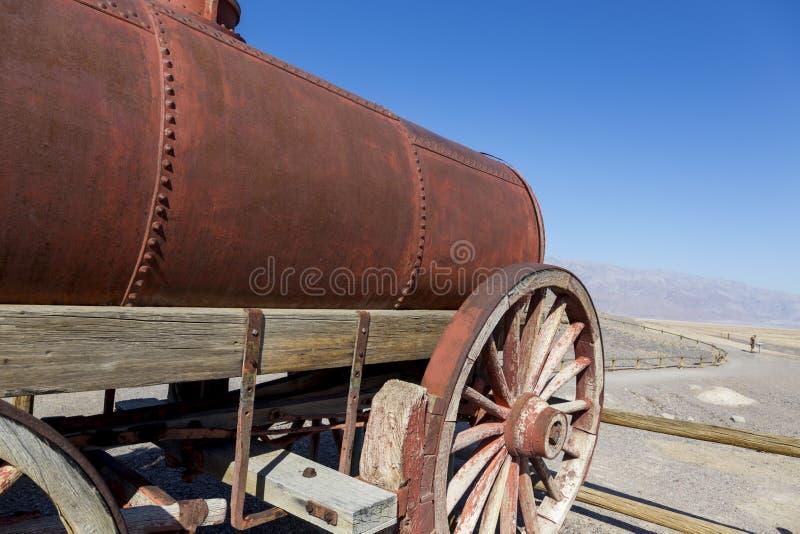 Harmony Borax Works i Death Valley royaltyfri fotografi