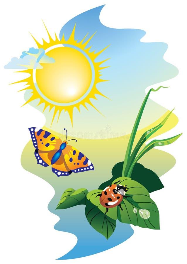 Harmony in sunny day vector illustration