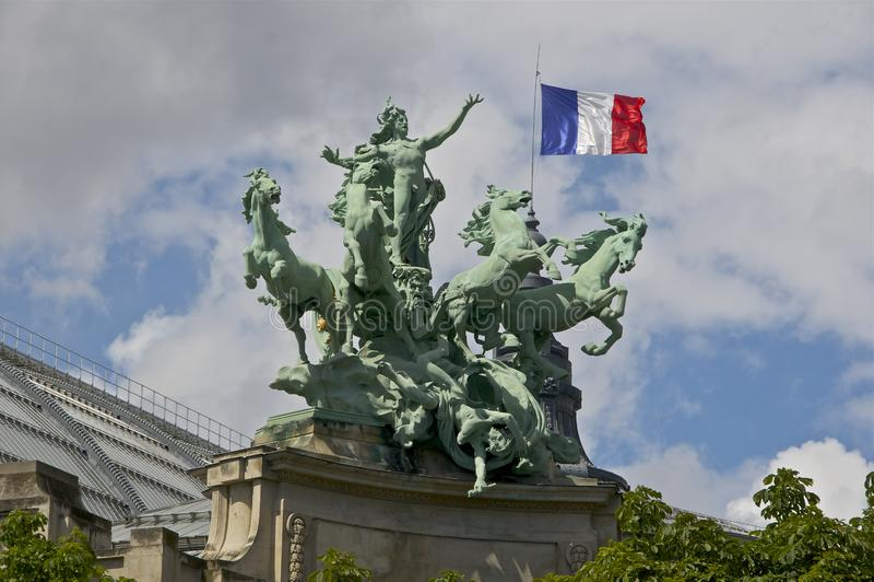 Harmony triumphing Paris France royalty free stock photography