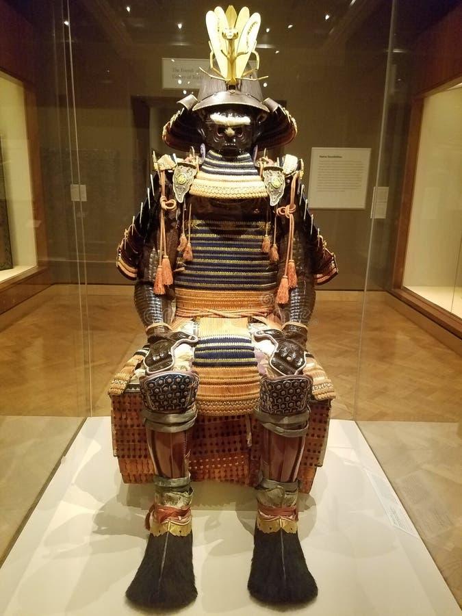 Harnesk av samurajerna arkivfoton