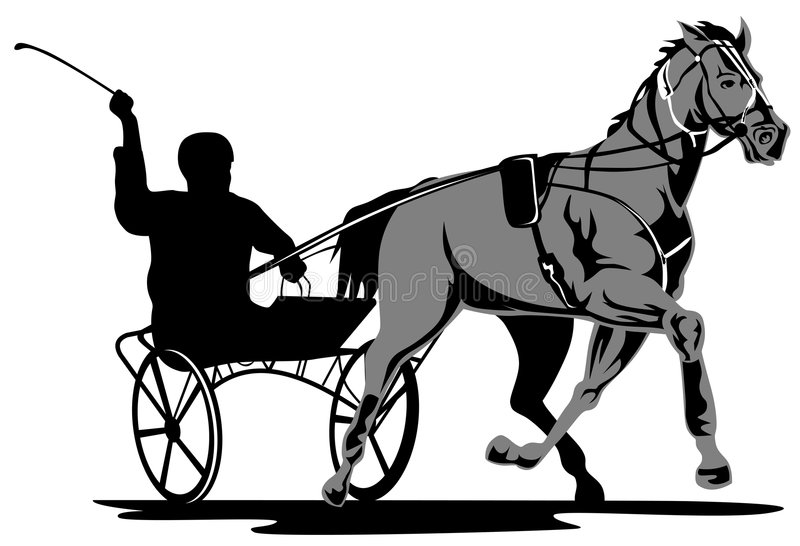 Download Harness racing stock vector. Image of trot, illustration - 4531197