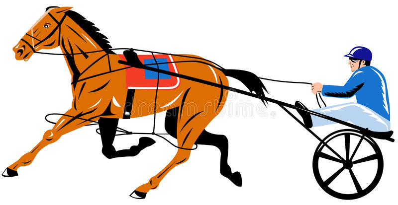 Harness racing vector illustration