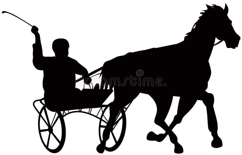 Harness racing stock illustration
