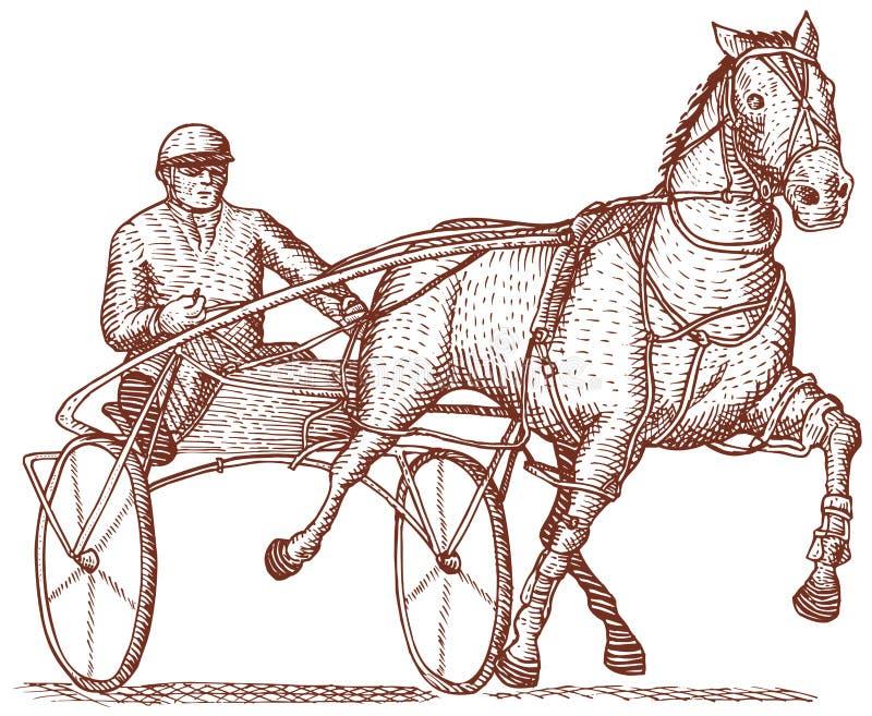 Download Harness racing stock illustration. Illustration of running - 6349414
