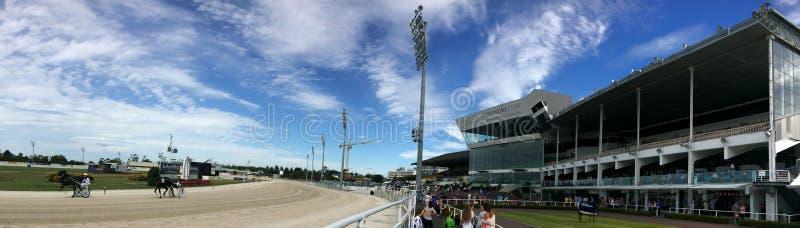 Harness racing in Alexandra Park Raceway in Auckland New Zealand stock photos