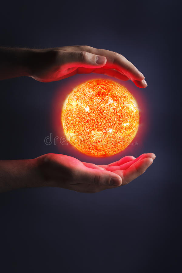 Harnessing the power of the Sun stock image