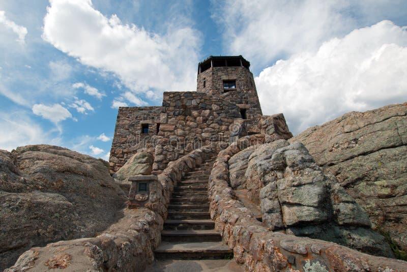 Harney szczytu ogienia punktu obserwacyjnego wierza w Custer stanu parku w Czarnych wzgórzach Południowy Dakota zdjęcie royalty free