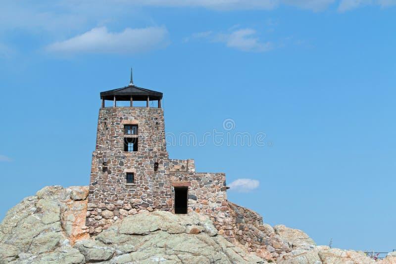 Harney szczytu ogienia punktu obserwacyjnego wierza w Custer stanu parku w Czarnych wzgórzach Południowy Dakota obrazy stock