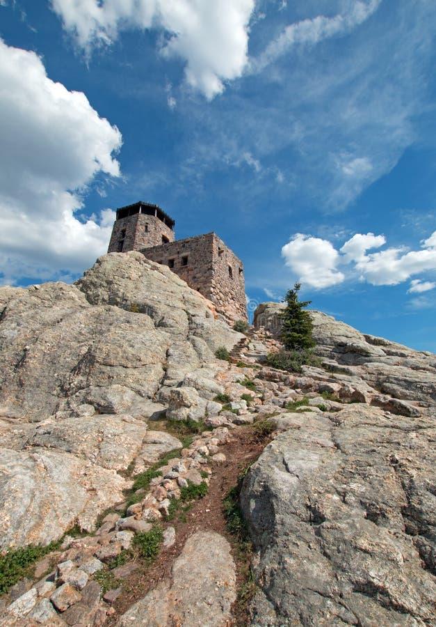 Harney szczytu ogienia punktu obserwacyjnego wierza w Custer stanu parku w Czarnych wzgórzach Południowy Dakota usa budował Cywil zdjęcie royalty free