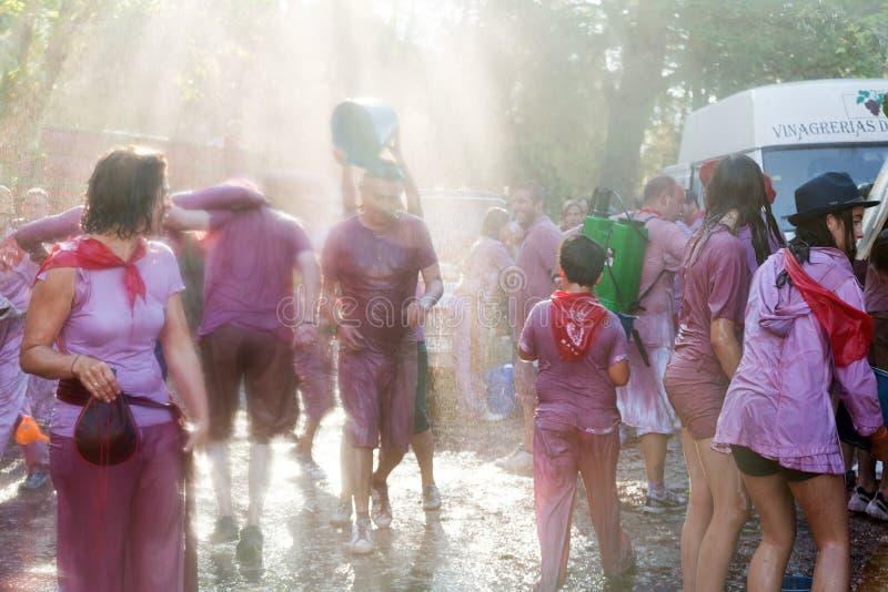 Haro Wine Festival (Batalla del vino) stock afbeeldingen