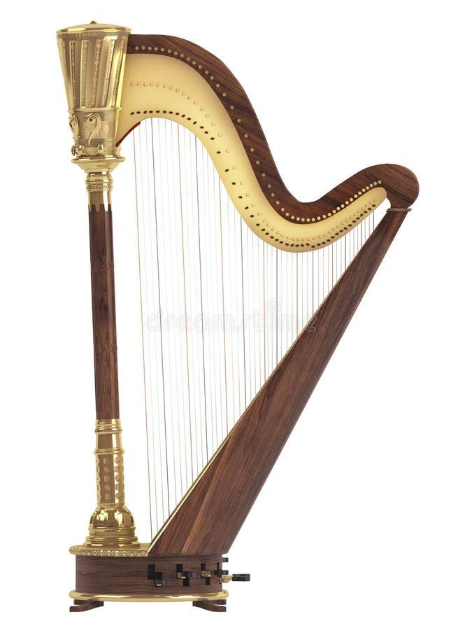 Harp royalty free illustration