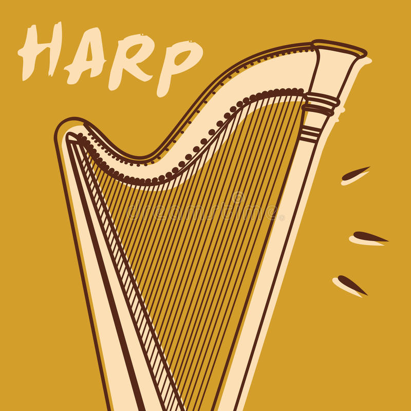 Harp vector stock photo