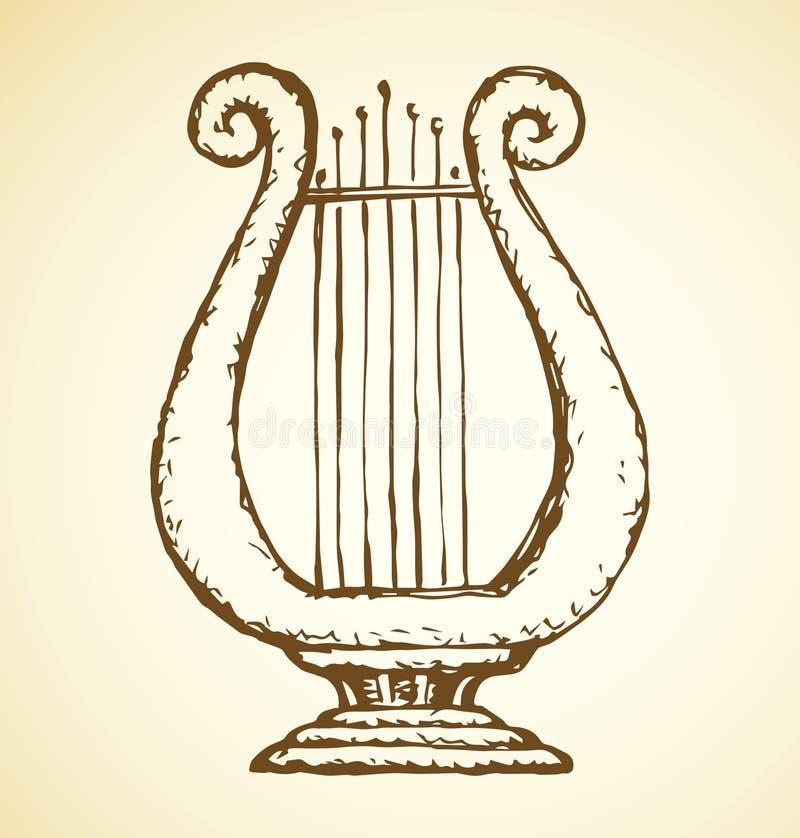 harp Desenho do vetor ilustração do vetor