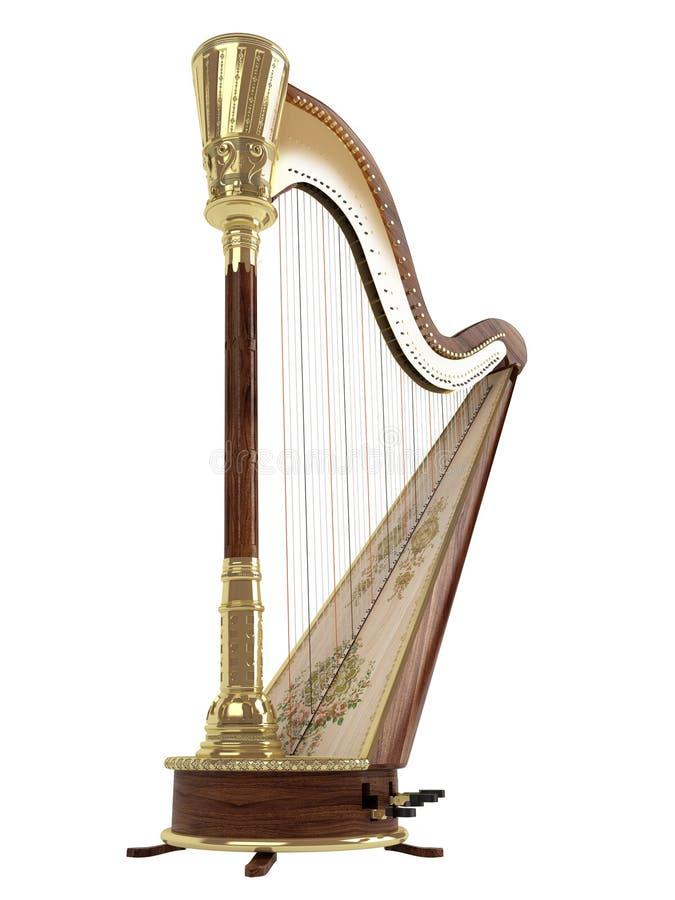 harpa royaltyfri illustrationer