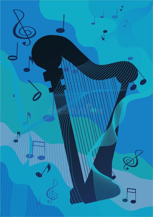 Harpa ilustração do vetor