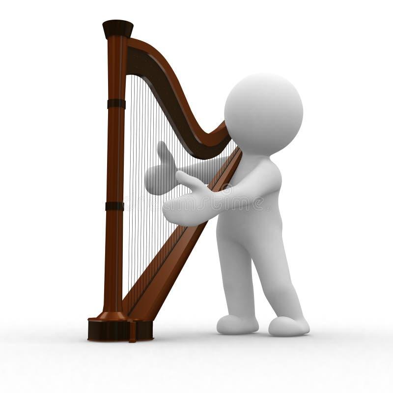 Harpa ilustração stock