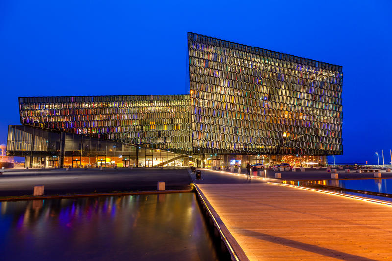 Harpa Concert Hall immagine stock