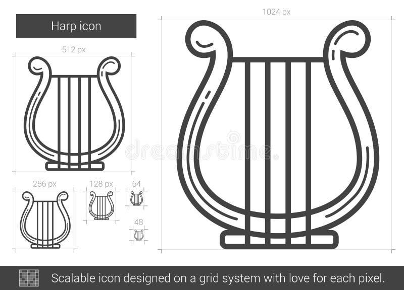 Harpalinje symbol royaltyfri illustrationer