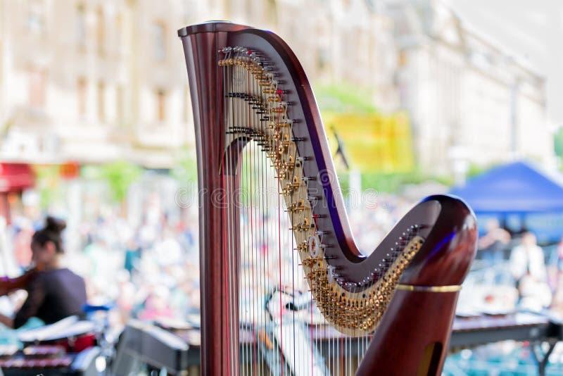 Harpdetails stock afbeeldingen