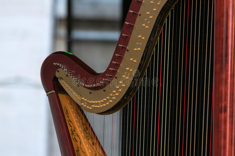 Harpdetails royalty-vrije stock afbeelding